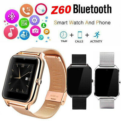 CA Stainless Steel Bluetooth GSM SIM Smart Watch Z60 For Samsung iphone Android