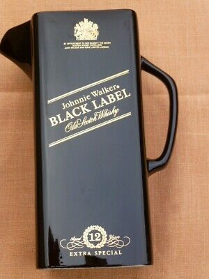 Johnnie Walker Black Label Wade PDM made in England Whisky Water Jug, As New.