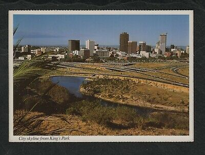 s645)   1970's WESTERN AUSTRALIA POSTCARD OF PERTH SKYLINE FROM KING'S PARK