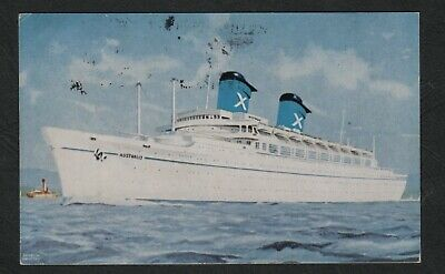 "s848)          1960's SHIPPING POSTCARD OF THE LINER   ""R.H.M.S. AUSTRALIS"""