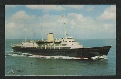 s847)        SHIPPING POSTCARD  OF THE ROYAL YACHT  H.M.Y. BRITANNIA