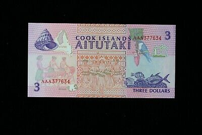 Cook Islands  3 Dollars  1992  P7  Unc (3312240/W1)