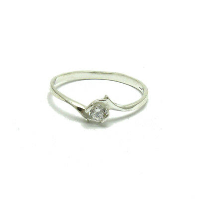 Sterling Silver Ring Hallmarked Solid 925 With 3.5mm CZ Perfect Quality Empress