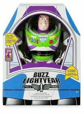"TOY STORY 4 Buzz Lightyear 12"" Talking & Interactive Action Figure **NEW*"