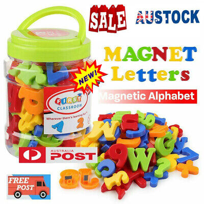 78PCS Magnetic Numbers Letters Alphabet Learning Toy Fridge Magnets Xmas gift VW