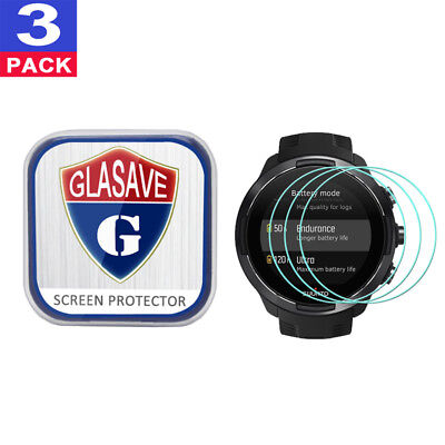 {3 Pack} GLASAVE Suunto 9 Tempered Glass Screen Protector Clear Film