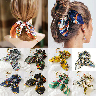 Pearls Hair Ties Scrunchie Ropes Ponytail Holder Rope Hair Accessories for Women