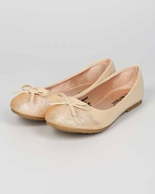 New Girl Jelly Beans Cola Rose Embellished Ballerina Flat