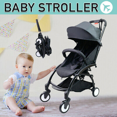 Foldable Baby Stroller Pram Compact Lightweight Pushchair Travel Carry-on Plane