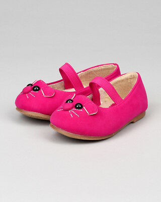 Jelly Beans New Girl Minoro Suede Mouse Decor Mary Jane Furry Ballet Flat (Toddl