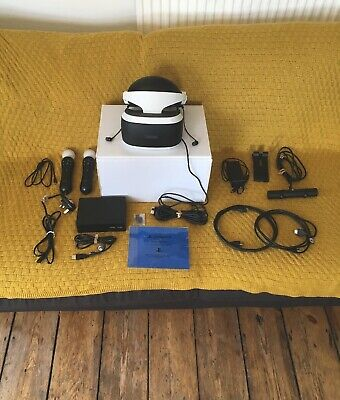 Sony PlayStation VR Headset Camera And Motion Controllers Bundle