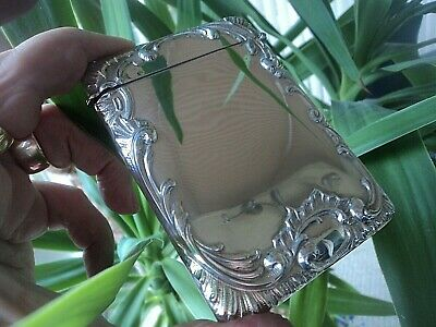 Attractive Sterling Silver Art Nouveau Card Case  Birmingham 1905 Henry Matthews