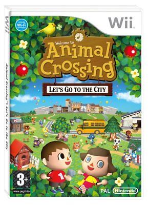 ANIMAL CROSSING LET'S GO TO THE CITY - NINTENDO Wii - PAL - NEW & SEALED