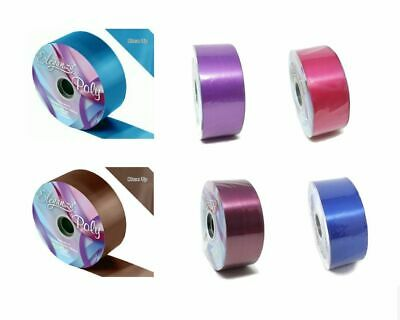 "Florist Poly Ribbon Roll 100yds x 2"" Wedding Gift Wrap Bow - Choice of Colour"