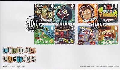 2019 - Curious Customs FDC - Lerwick, Shetlands Pmk - Post Free