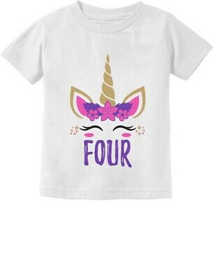 4th Birthday Gif For Four Year 4 Years Old Boy Girl Toddler Kid T-shirt Bday Tee