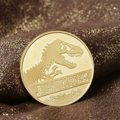 Jurassic Park Gold Plated Commemorative coin New Hot
