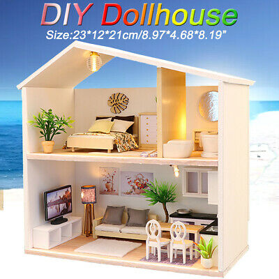 OZ DIY Wooden Doll House Miniature Kit Ancient Architecture Dollhouse Toy Gift