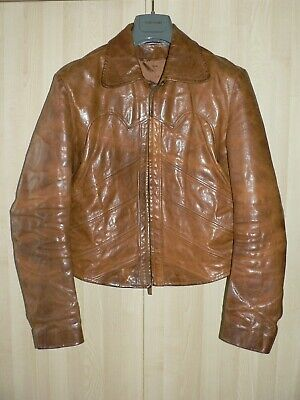 2f45ad8b5 Rare Gucci by Tom Ford SS04 Cowboy Biker Antiqued Leather Jacket + Hanger