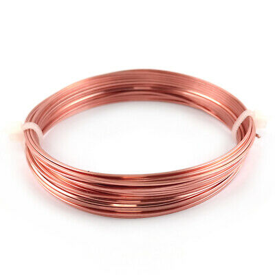 0.8mm Copper Square Wire Unplated 6m Coil Accessory DIY Jewellery Making Crafts