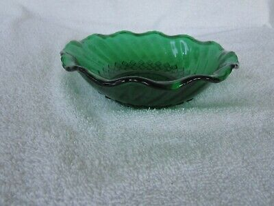 "High Quality+~ Gorgeous Vintage Green Depresion  Glass [ 6-1/4"" ]~ Bowl~Nice!!"