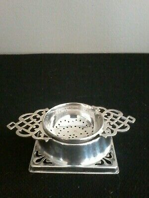 Vintage EPNS Silver Plated Tea Strainer and Stand. England