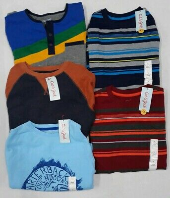 Lot Of 5 Cat & Jack Boys Long Sleeve Shirts Choice Size Lrg 12/14  Or Xl 16 1H