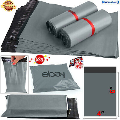 Grey Mailing Packing Bags Strong Poly Postal Postage Post Mail Self Seal