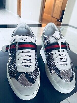 1097568c6 Gucci Exótic Python Snake Skin Mens Shoes Size 9.5 Made In Italy