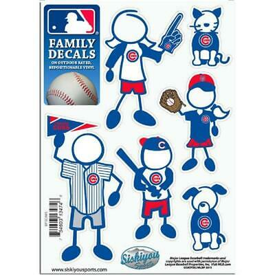 Chicago Cubs Family Decals 6 Pack (NEW) MLB Small Auto Car Stickers Emblems