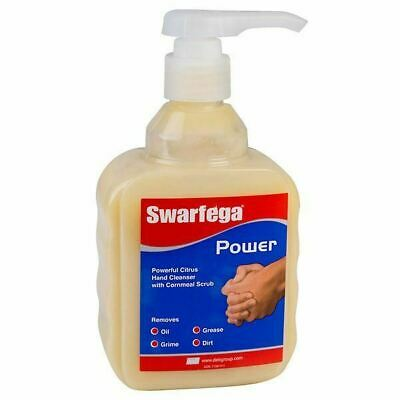 Swarfega Power Citrus Hand Cleaner with Cornmeal Scrub  - 450ML Pump Top