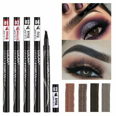 4 Heads Microblading Liquid Eyebrow Pen Waterproof Smudge-proof Eyebrow Enhancer