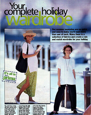 Summer Outfit TUNIC TROUSERS SKIRT SHORTS Prima Sewing Pattern 10 12 14 16 18 20