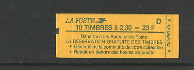 1990 France Marianne of Briat Stamp Booklet (D) 10 x 2,30f