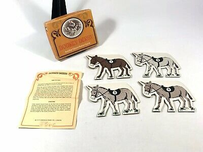 Vintage Donkey Derby Parlour Game Gibson 4 Players 1970s