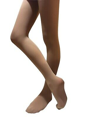 Girl Women dance tights pantyhose ballet Jazz contemporary footed stockings tan