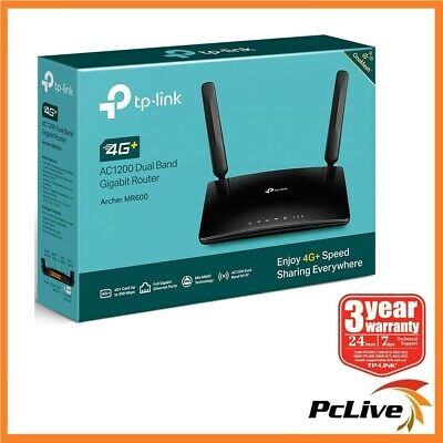 TP-Link Archer MR600 AC1200 Wireless Dual Band 4G+ Cat6 LTE Router Mesh SIM Card