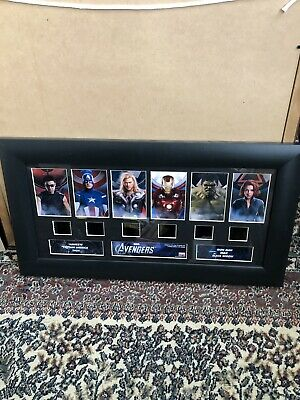Marvel Avengers 2012 film cell display