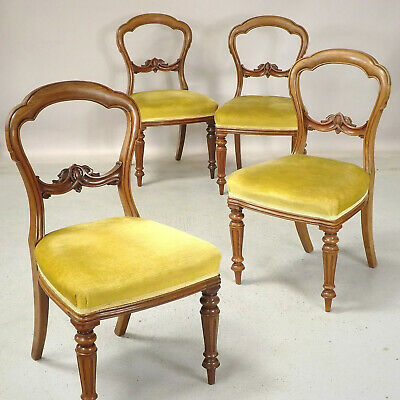 Antique Dining Chairs (delivery £40 ) Balloon Back Mahogany 19th C