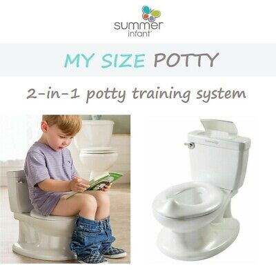 Summer Infant My Size Potty with Removable Toilet Training Seat Topper Realistic