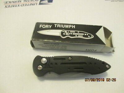 Black Folding Knives Tactical Force Automat Assisted Pocket Knife Collectible