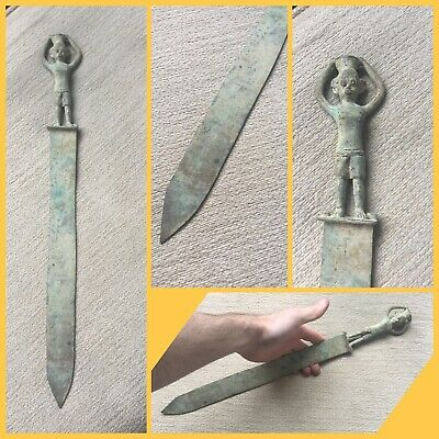 Rare ancient Roman bronze legionnaires large peace of Cutlery , 2nd to 4th C