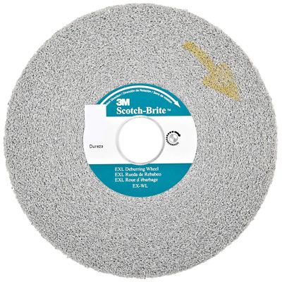 Scotch-Brite™ EXL Deburring Wheel, XL-WL, 8A Medium, 6 in x 1/2 in x 1 in
