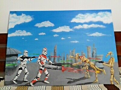Star Wars 212th Clone Trooper, Original Acrylic Painting Home Decor