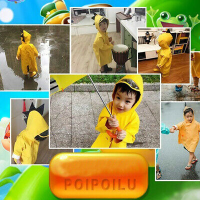 CUTE FUNNY RAINCOAT Children Cartoon Rain Coat Kids Rainwear
