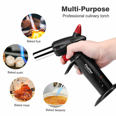 Cooking Torch Creme Brulee Culinary Food Blow Chef Kitchen Butane Flame Lighter
