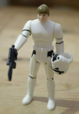 Vintage Star Wars Luke Skywalker Stormtrooper Disguise Figure ANH POTF Trilogo