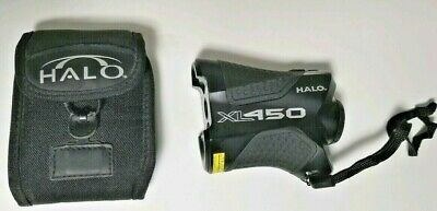 New Halo 450 Yard Wildgame Innovations XL450-7 Laser Hunting Rangefinder w/ Case