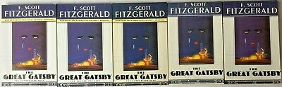 Lot 5 The Great Gatsby by F. Scott Fitzgerald paperback teacher ~ Free Shipping