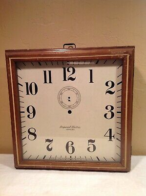 Large Vintage A W Fowler Imperial Electric Wall Clock-Case Only
